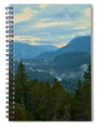 Tantalus Mountain Afternoon Landscape Spiral Notebook