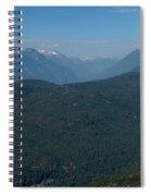 Tantalus Mountain Snow Caps Spiral Notebook