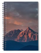 Tantalus Mountain Sunset - British Columbia Spiral Notebook