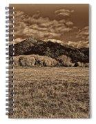 Taos Mountain In Platinum  Spiral Notebook