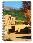 Taos Pueblo South In Autumn Spiral Notebook