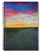 Taos Sunset On Rice Paper Spiral Notebook