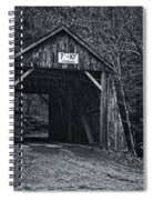 Tappan Covered Bridge Bw Spiral Notebook
