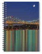 Tappan Zee Bridge Reflections Spiral Notebook