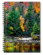 Taquamenon Lower Falls And Observation Deck. Spiral Notebook