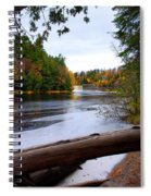 Taquamenon River And Lower Falls  Spiral Notebook