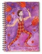 Tarot 1 The Juggler Spiral Notebook