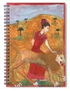 Tarot 11 Strength Spiral Notebook