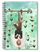 Tarot 12 The Hanged Man Spiral Notebook