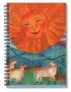Tarot 19 The Sun Spiral Notebook