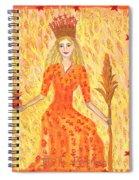 Tarot 3 The Empress Spiral Notebook