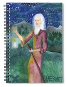 Tarot 9 The Hermit Spiral Notebook