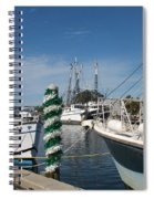 Tarpon Springs Fishing Boats  Spiral Notebook