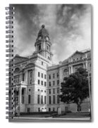 Tarrant County Courthouse Bw Spiral Notebook