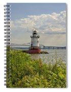 Tarrytown Lighthouse And The Tappan Zee Bridge Spiral Notebook