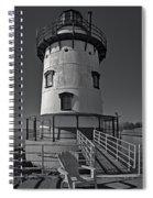 Tarrytown Lighthouse Bw Spiral Notebook
