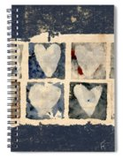 Tattered Hearts Spiral Notebook