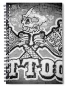 Tattoo Parlor Sign In Rough Neighborhood  Spiral Notebook