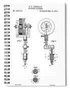 Tattooing Machine Patent Art  1891 Spiral Notebook