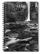 Taughannock Black And White Spiral Notebook