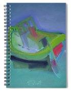 Tavira Fishing Boat Abandoned Spiral Notebook