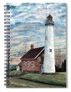 Tawas Point Light Spiral Notebook