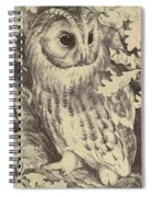 Tawny Owl Spiral Notebook
