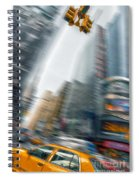 Taxi On Times Square Spiral Notebook