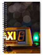 Taxi Signs Spiral Notebook