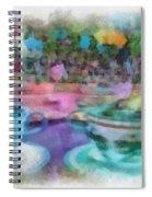 Tea Cup Ride Fantasyland Disneyland Pa 01 Spiral Notebook