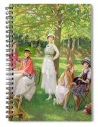 Tea In The Garden Spiral Notebook