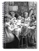 Tea Party, C1902 Spiral Notebook