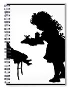 Tea Party Dolly Silhouette Spiral Notebook