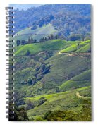 Tea Plantation In The Cameron Highlands Malaysia Spiral Notebook