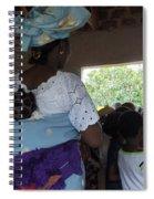 Teacher Backing Her Baby  Spiral Notebook
