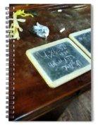 Teacher - School Slates Spiral Notebook