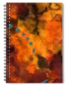 Teal Dots Spiral Notebook