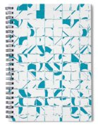 Teal Glyphs  Spiral Notebook
