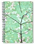 Teal Greens Leaves Melody Spiral Notebook