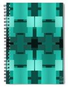 Teal On Teal 8 Spiral Notebook