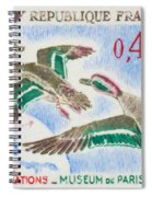 Teal Study Of Migration-museum Of Paris Spiral Notebook