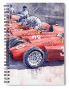 1956 Team Lancia Ferrari D50 Type C 1956 Italian Gp Spiral Notebook