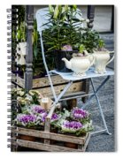 Teapots And Flowers Spiral Notebook