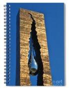 Teardrop  9 - 11 Memorial Bayonne N J  Spiral Notebook