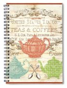 Teas And Coffees Sign Spiral Notebook