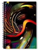 Techno  Neon Stripes Spiral Notebook