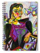 Technology And Picasso Spiral Notebook