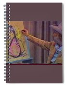 Ted Degrazia Drawing An Angel On Camera Kvoa Tv Screen Capture Christmas 1967 Spiral Notebook