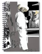 Ted Degrazia Painting Mural With Brush Mexico City C.1941-2013 Spiral Notebook