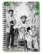 Ted Degrazia With  Uncle  Gregorio Circa 1920's-2013 Spiral Notebook
